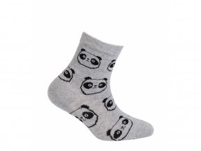 Dětské ponožky Wola Pandy šedé
