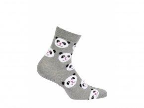Dětské ponožky Wola Pandy šedý melír