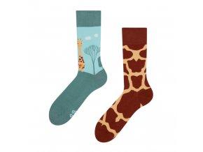 Veselé ponožky Žirafa   Zelenáčky