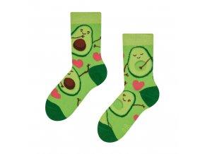 Dětské veselé ponožky Avokádo | Zelenáčky