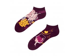 Kotníkové veselé ponožky Červené víno | Zelenáčky