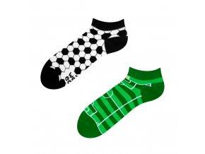Kotníkové veselé ponožky Fotbal | Zelenáčky