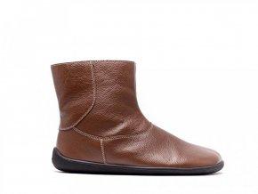 Barefoot kotníkové boty Be Lenka Polar – Brown | Zelenáčky