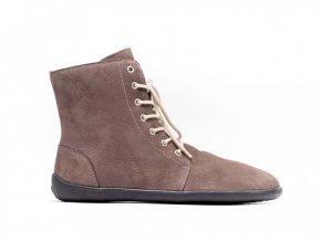 Barefoot kotníkové boty Be Lenka Winter – Chocolate | Zelenáčky