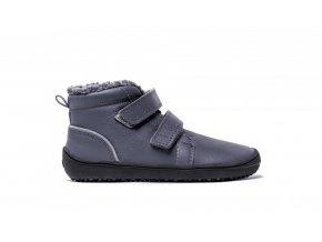Dětské zimní barefoot boty Be Lenka Penguin - Charcoal | Zelenáčky