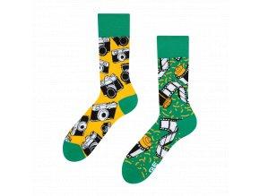 Veselé ponožky Fotoaparát | Zelenáčky