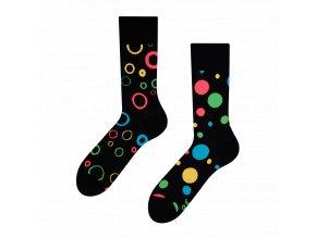 Veselé ponožky Neonové tečky | Zelenáčky