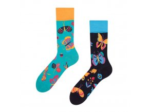 Veselé ponožky Motýli | Zelenáčky