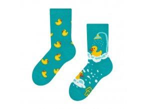 Dětské veselé ponožky Kačenky | Zelenáčky