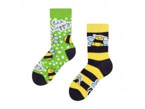 Dětské veselé ponožky Včely | Zelenáčky