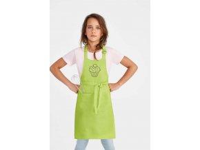 Zástěra s výšivkou dětská - muffin | Zelenáčky