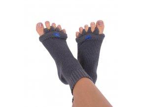 Adjustační ponožky Happy Feet tmavě šedé| Zelenáčky