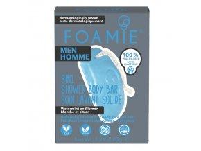 Foamie 3in1 tuhé mýdlo a šampon pro muže Seas The Day | Zelenáčky