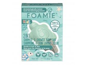 Foamie 2in1 tuhé mýdlo a šampon pro děti Mango & Coconut | Zelenáčky