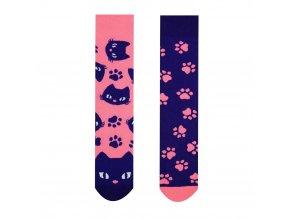 Dětské veselé ponožky Kočička | Zelenáčky