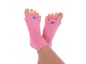 Adjustační ponožky Happy Feet růžové   Zelenáčky