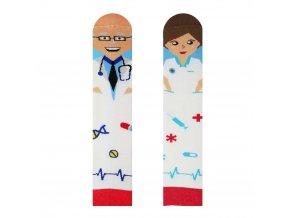 Veselé ponožky Doktor a sestřička | Zelenáčky
