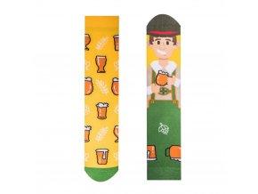 Veselé ponožky Pivař | Zelenáčky