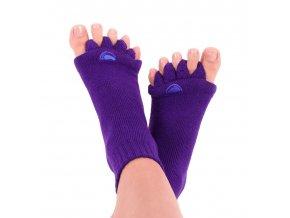 Adjustační ponožky Happy Feet fialové | Zelenáčky