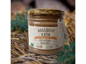 Arašídový krém s bio mléčnou čokoládou 190 g | Zelenáčky