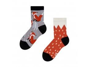 Dětské veselé ponožky Liška
