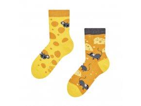 Dětské veselé ponožky Sýr