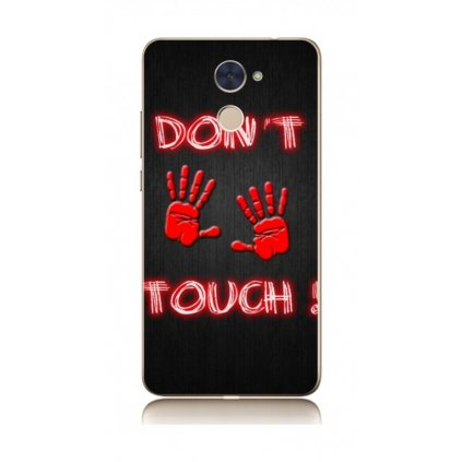Zadní kryt na Huawei Y7 Don't touch red