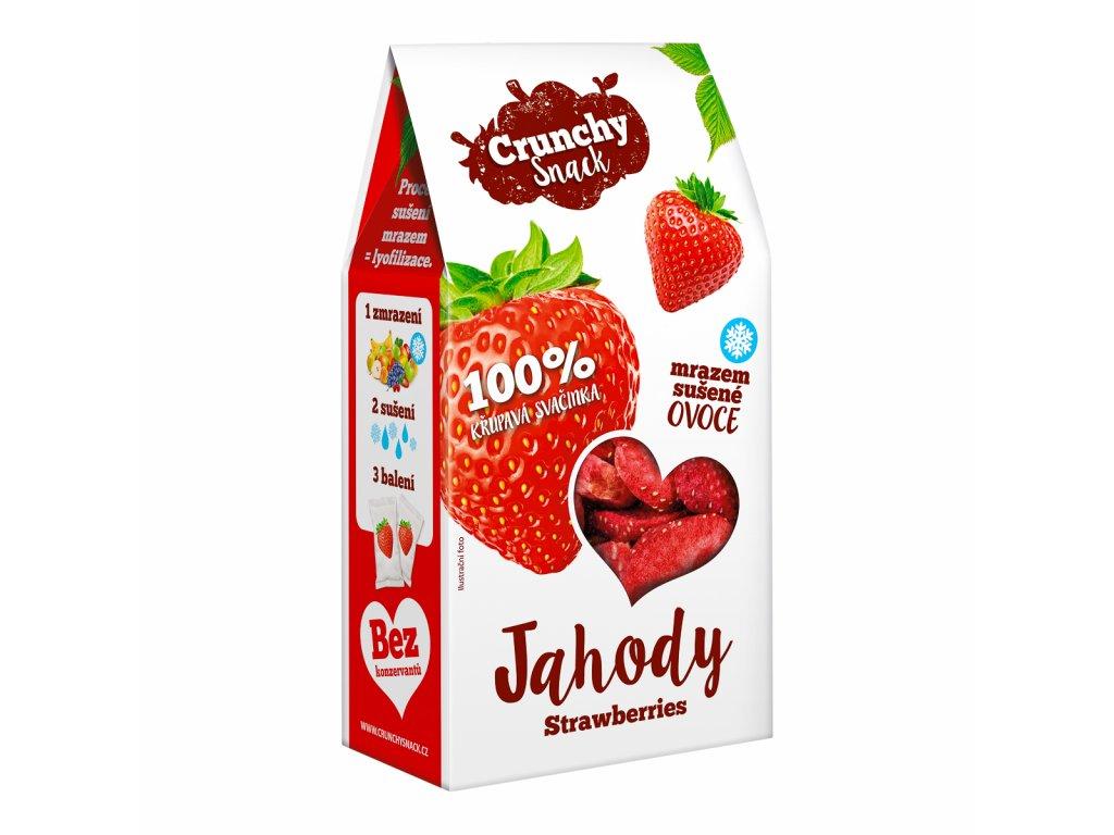 Crunchy snack, Mrazem sušené jahody, 20g
