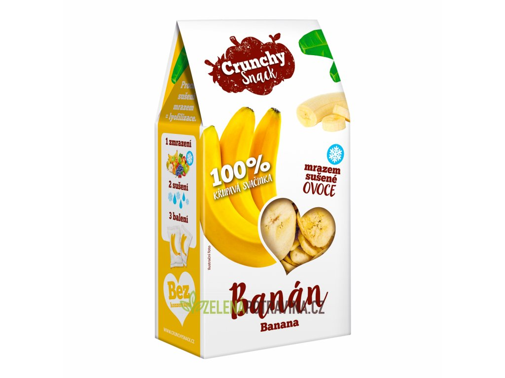 Crunchy snack, Mrazem sušený banán, 30g