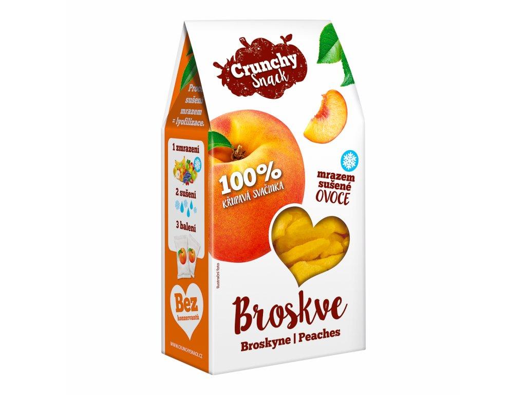 Crunchy snack, Mrazem sušené broskve, 15g