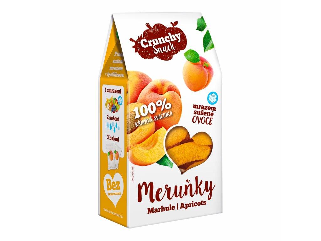 Crunchy snack, Mrazem sušené meruňky, 15g