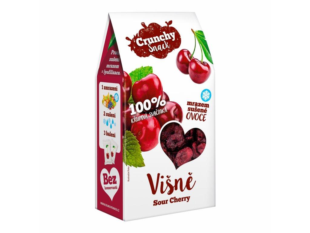 Crunchy snack, Mrazem sušené višně, 30g