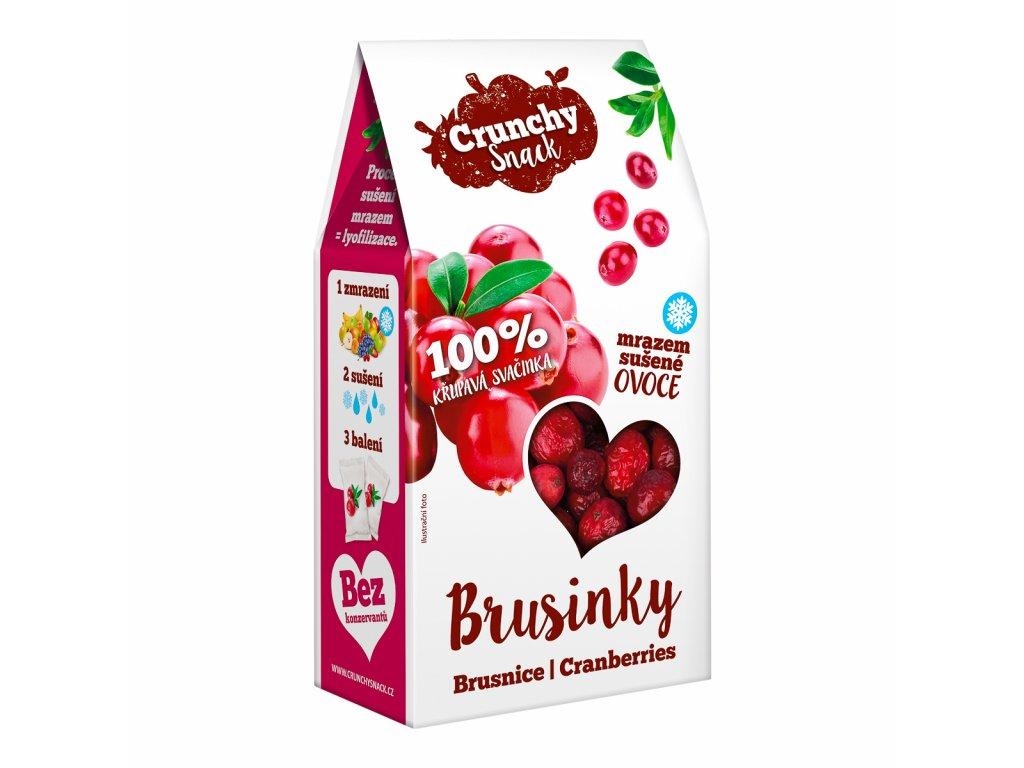 Crunchy snack, Mrazem sušené kanadské brusinky, 15g