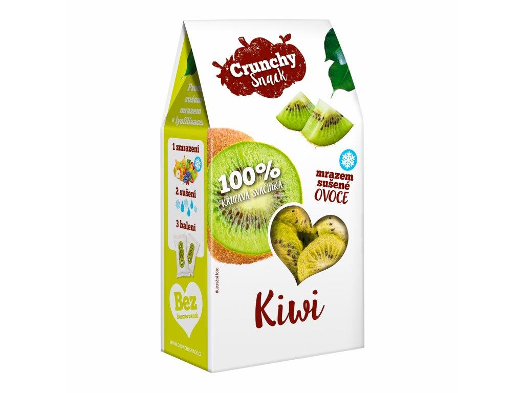 Crunchy snack, Mrazem sušené kiwi, 20g