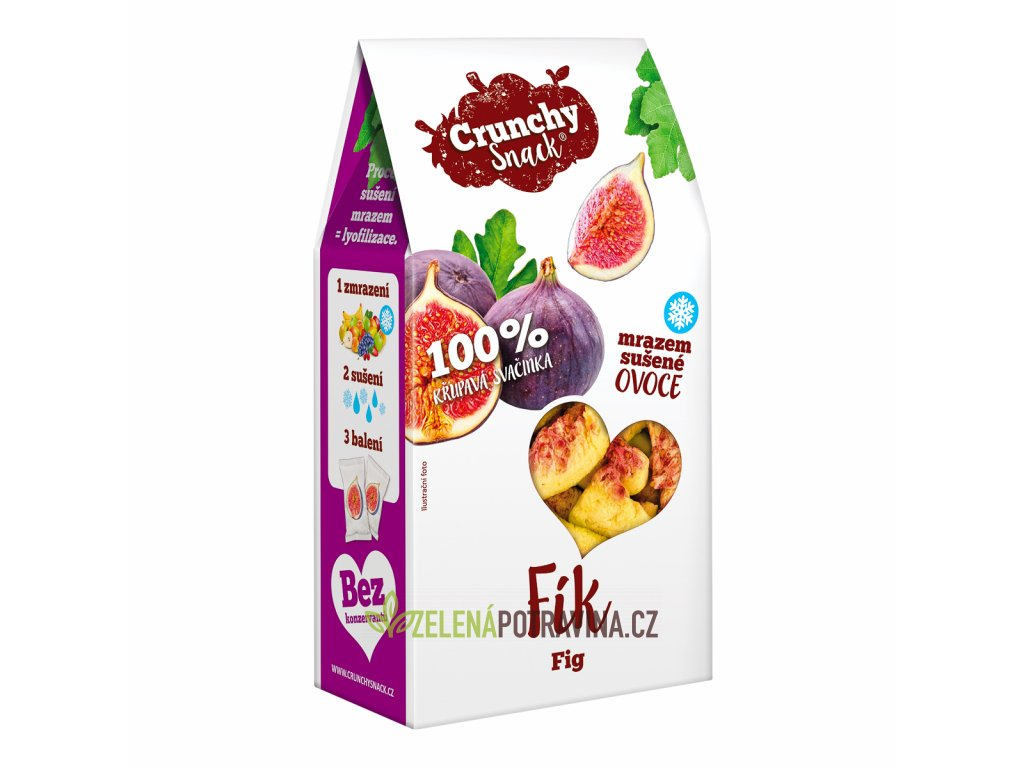 Crunchy snack, Mrazem sušené plátky fiků, 20g