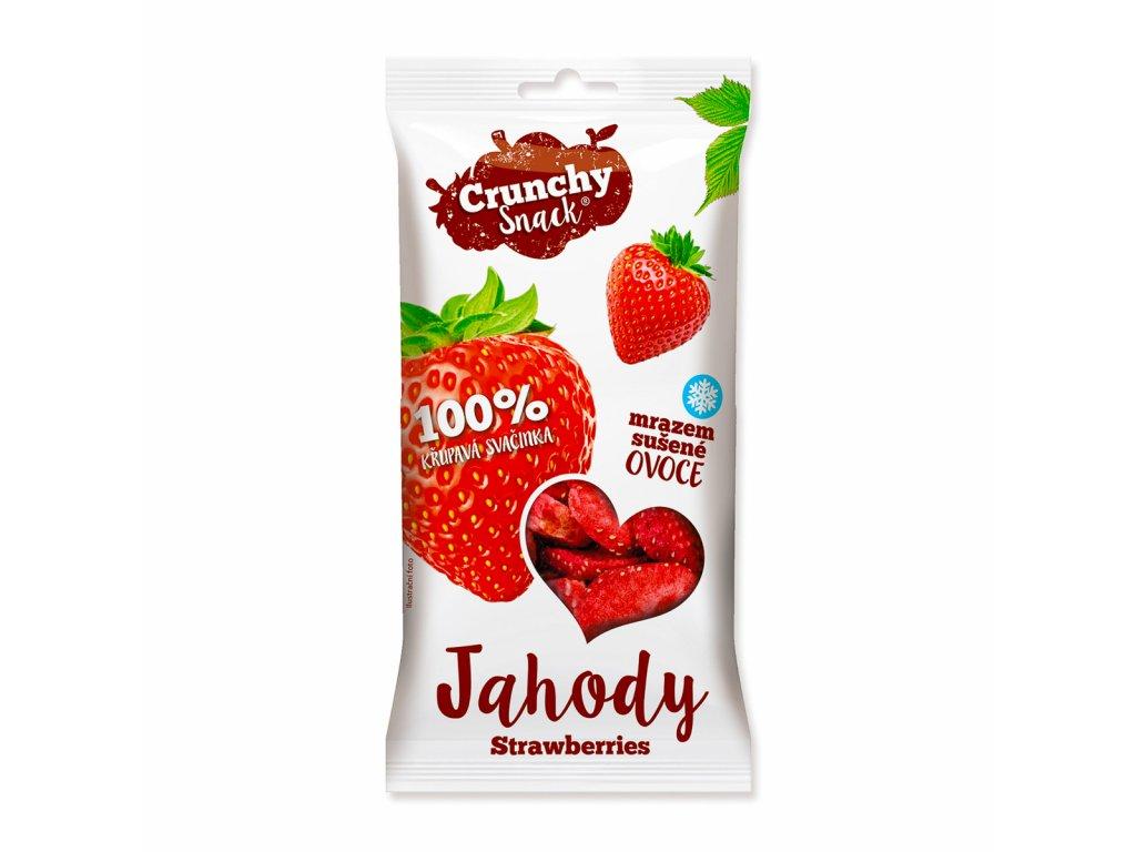 Crunchy snack, Mrazem sušené jahody, 10g