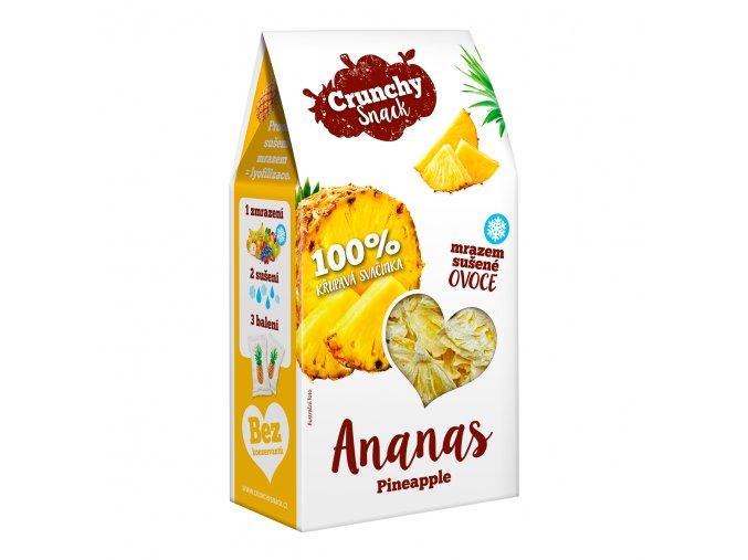 Crunchy snack, Mrazem sušený ananas, 20g