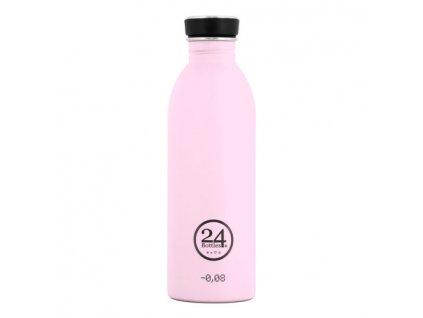 Láhev na pití 24Bottles Pastel Candy Pink 0,5l