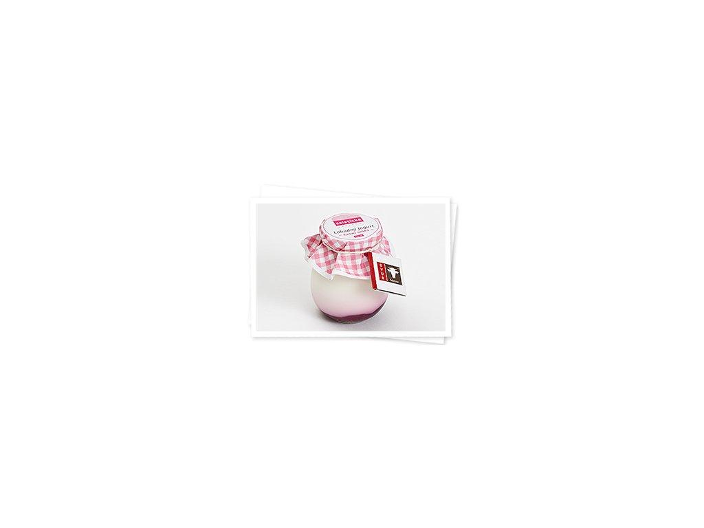 Lahodný jogurt lesní směs - velký, sklenice 245ml