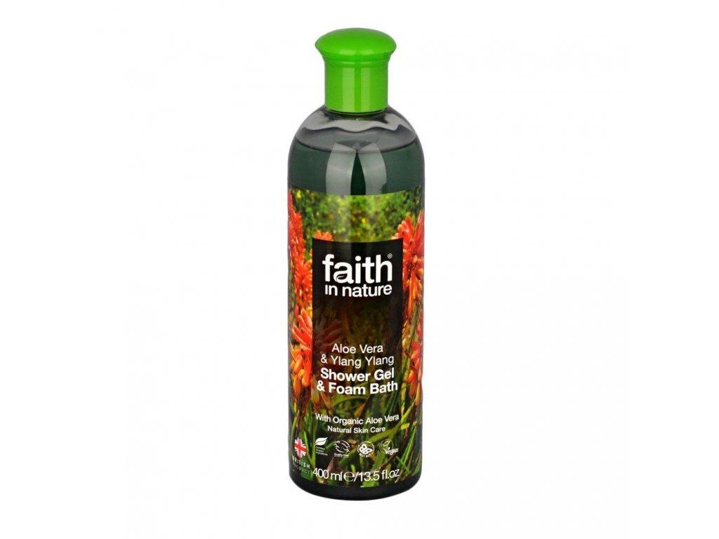 Sprchový gel a pěna do koupele - Aloe Vera & Ylang Ylang (Organic)
