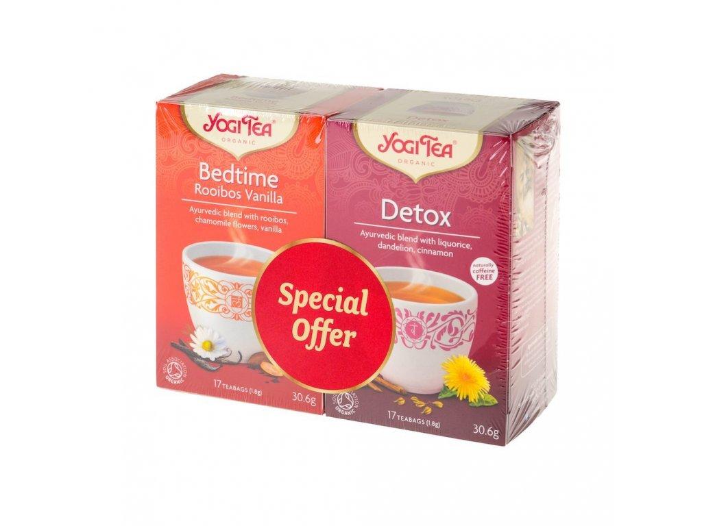 Speciální balení čajů Roobois s vanilkou a detoxikačního (Organic)