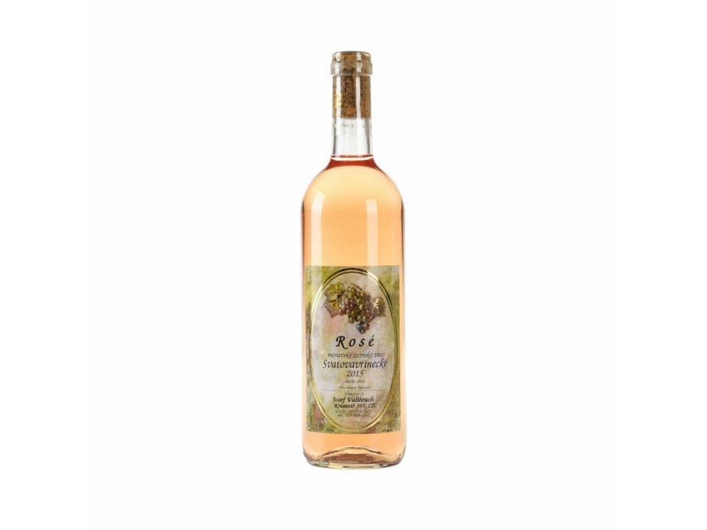 Rosé Svatovavřinecké - zemské víno 2015