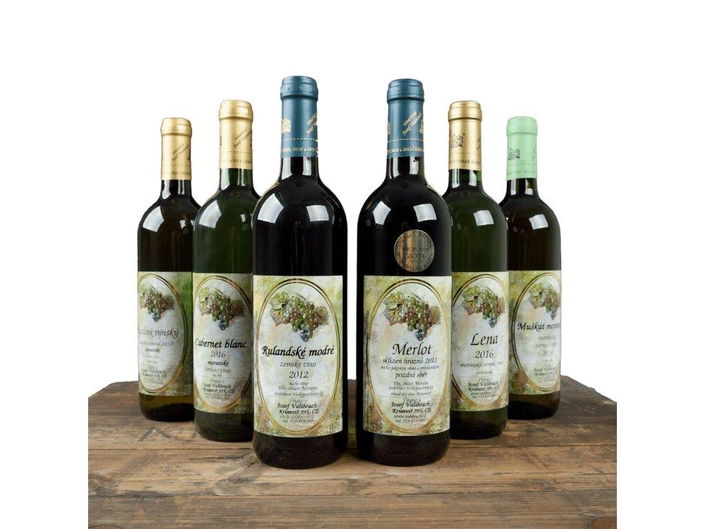 Degustační balíček vína na všední dny - 6 lahví