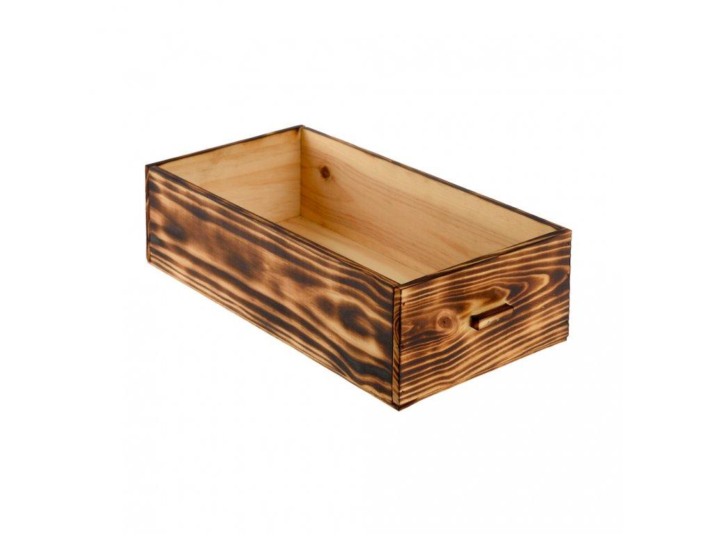 Dřevěná bedýnka - opálená