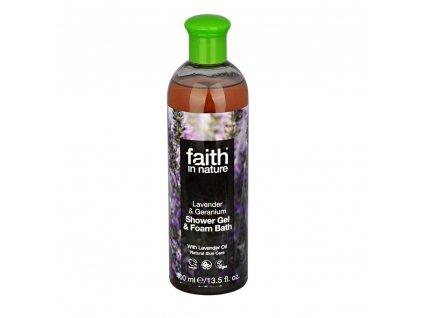Sprchový gel a pěna do koupele - Levandule a Pelargonie