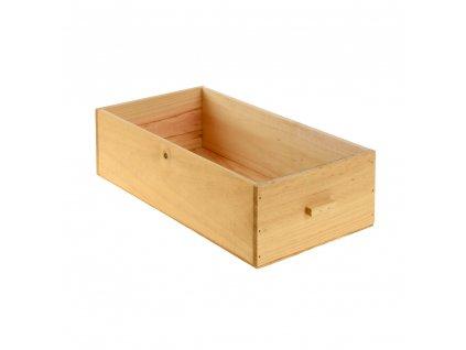 Dřevěná bedýnka - přírodní