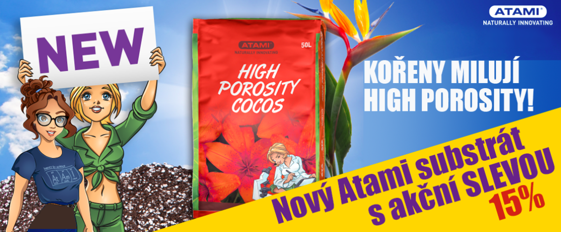Atami hight Porosity Cocos 50L akce