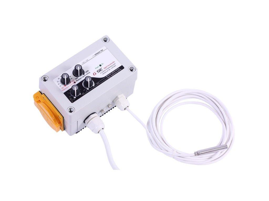 61328 gse digitalni regulator teploty min max rychlosti ventilatoru a hystereze 2x5a
