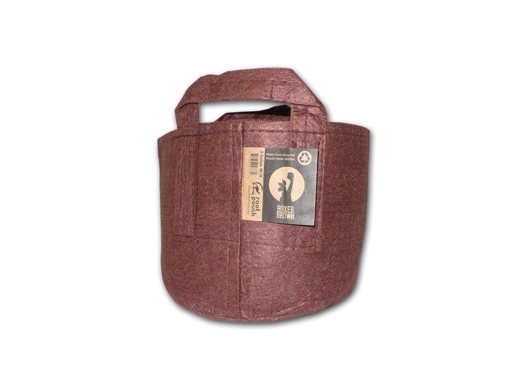 63752 root pouch textilni kvetinac boxer brown 12l