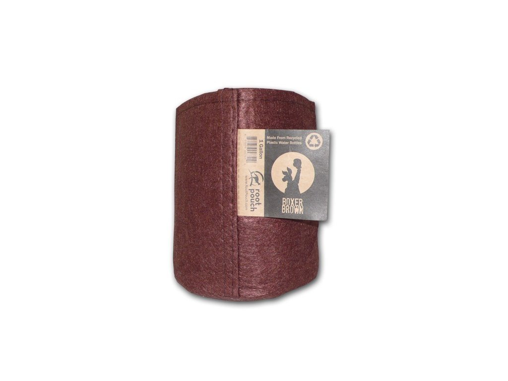 63758 root pouch textilni kvetinac boxer brown 3 8l